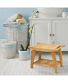 Tao Shower Bench with Solid American White Oak