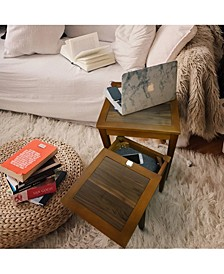 Lincoln Nesting End Tables with Concealed Compartment, Solid American Walnut Top