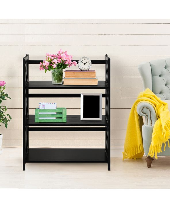 Yu Shan Montego 3-Shelf Folding Bookcase
