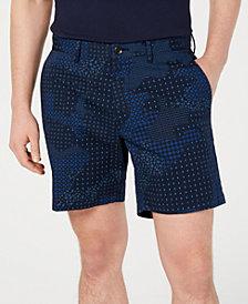 Michael Kors Men's Performance Stretch Bandana-Print Camouflage Shorts
