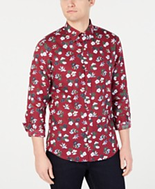 Michael Kors Men's Slim-Fit Floral Shirt