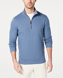 Michael Kors Men's Piqué Quarter-Zip Sweater