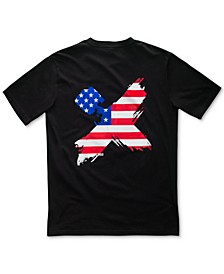 Men's Flag Logo T-Shirt with Chest Pocket