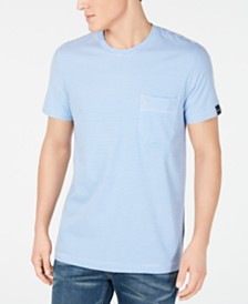 DKNY Men's Feeder Stripe Pocket T-Shirt