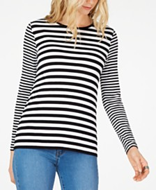 MICHAEL Michael Kors Striped Top, Regular & Petite