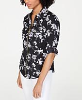 b3bf31c8b MICHAEL Michael Kors Zip-Front Utility Shirt, Regular & Petite