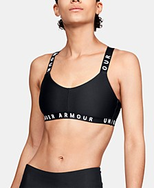 Women's Wordmark Cross-Back Low-Impact Sports Bra
