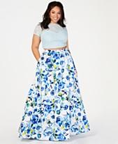 c38fca4fac646 B Darlin Trendy Plus Size 2-Pc. Lace   Floral-Print Skirt