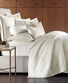 Hotel Collection Luxe Border 170-Thread Count Quilted King Coverlet, Created for Macy's