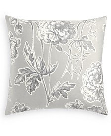 Engraved Flower Cotton 300-Thread Count European Sham, Created for Macy's