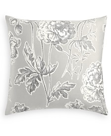 Charter Club Damask Designs Engraved Flower Cotton 300-Thread Count European Sham, Created for Macy's