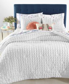 Seersucker 3-Pc. Full/Queen Comforter Set, Created for Macy's