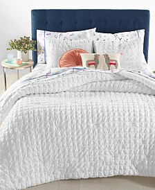 Whim by Martha Stewart Collection Seersucker Bedding Collection, Created for Macy's