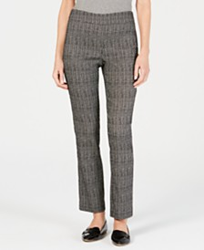 JM Collection Jacquard Pull-On Pants, Created for Macy's
