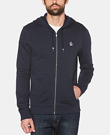 Original Penguin Men's Zip-Front Fleece Hoodie