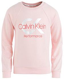 Calvin Klein Big Girls Monogram-Print Hoodie