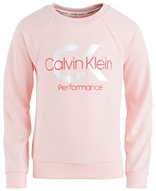 Calvin Klein Performance Big Girls Monogram-Print Hoodie