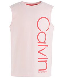 Calvin Klein Big Girls Logo-Print Cotton Tank Top