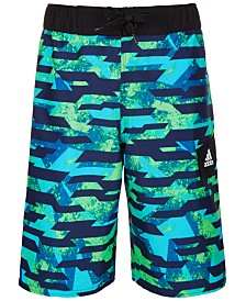 adidas Big Boys Kamo Fusion Volley Swimsuit