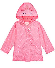 Carter's Toddler & Little Girls Hooded Dot-Print Unicorn Rain Jacket