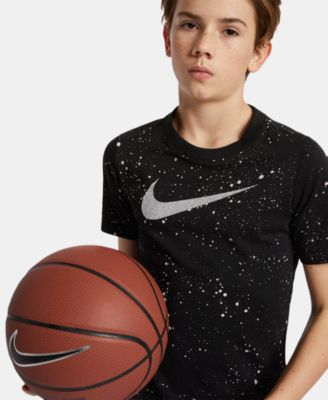 Image of Nike Big Boys Dri-FIT Logo-Print Basketball T-Shirt