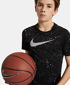 Nike Big Boys Dri-FIT Logo-Print Basketball T-Shirt
