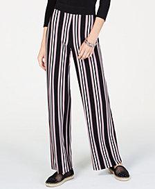 I.N.C. Petite Striped Soft Pants, Created for Macy's