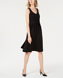 Alfani Curvy-Fit Lace-Trim Midi Dress, Created for Macy's