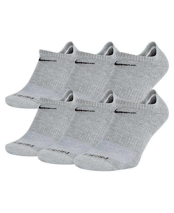 Nike Men's Socks, Dri Fit No Show 6 Pack