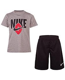 Nike Toddler Boys 2-Pc. Ball-Print T-Shirt & Shorts Set