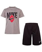 5a9b2d87e Nike Little Boys 2-Pc. Logo Graphic T-Shirt & Shorts Set