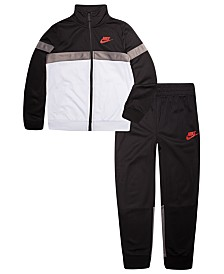 99bc6a47bfeab Nike Little Boys 2-Pc. Tricot Track Jacket   Pants Set