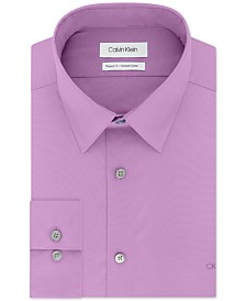 Calvin Klein Men's Classic/Regular-Fit Stretch Flex Collar Solid Dress Shirt