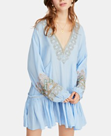 Free People Wild One Embroidered Peasant Dress