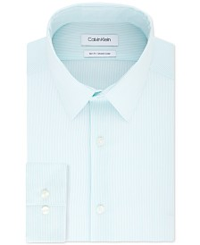 Calvin Klein Men's Slim-Fit Stretch Collar Stripe Dress Shirt, Online Exclusive Created for Macy's