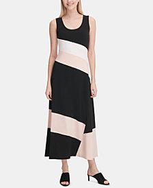 Calvin Klein Sleeveless Colorblocked Maxi Dress
