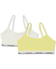 Calvin Klein Little & Big Girls 2-Pc. Adjustable Cropped Bras