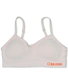 Calvin Klein Little & Big Girls Seamless Crop Bra