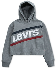 Levi's® Big Girls Cropped Hoodie