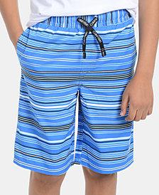 Calvin Klein Big Boys Striped Volley Swimsuit