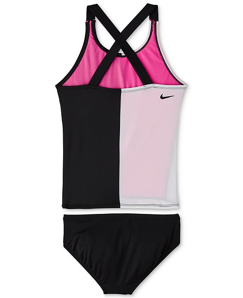 86b9c9732a Nike Big Girls 2-Pc. Rift Prism Crossback Tankini & Reviews ...