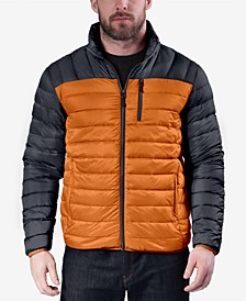 Men's Colorblocked Packable Down Jacket