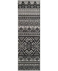 "Safavieh Adirondack Silver and Black 2'6"" x 8' Area Rug"