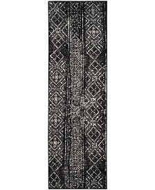 """Adirondack Black and Silver 2'6"""" x 8' Runner Area Rug"""