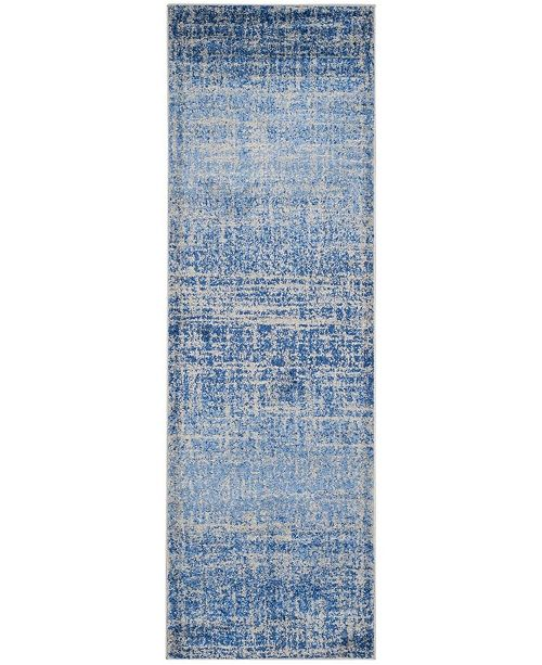 "Safavieh Adirondack Blue and Silver 2'6"" x 8' Runner Area Rug"