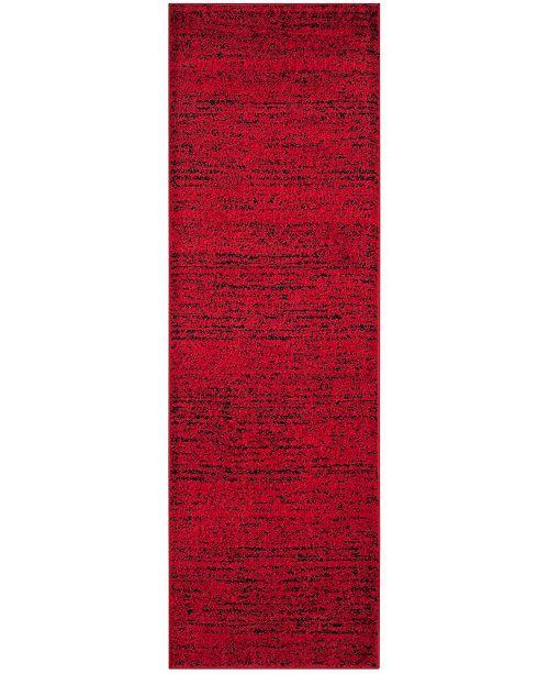 "Safavieh Adirondack Red and Black 2'6"" x 8' Runner Area Rug"