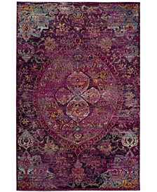 Crystal Fuchsia and Purple 5' x 8' Area Rug