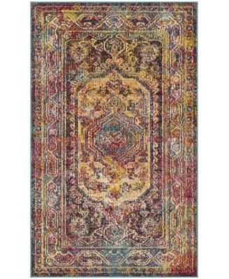 Crystal Teal and Rose 5' x 8' Area Rug