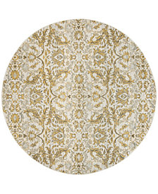 "Safavieh Evoke Ivory and Gold 6'7"" x 6'7"" Round Area Rug"