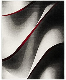 Hollywood Gray and Red 8' x 10' Area Rug